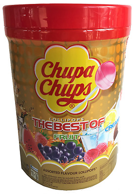 NEW Chupa Chups 150 Lollipops Bulk Lollies Jar Assorted Flavours Party Favours!