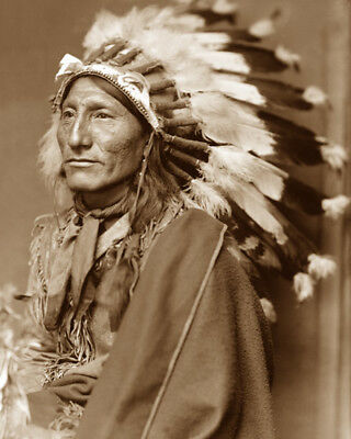 Whirling Horse 1898 Sioux Native American Sepia Photo