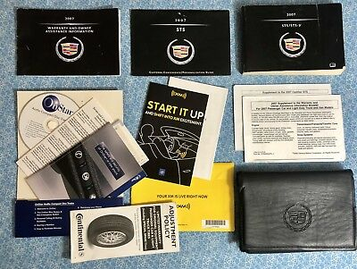 2007 CADILLAC STS STS-V OWNERS MANUAL BOOKS LUXURY SPORT 469hp SC 4.4L V8 OEM A+