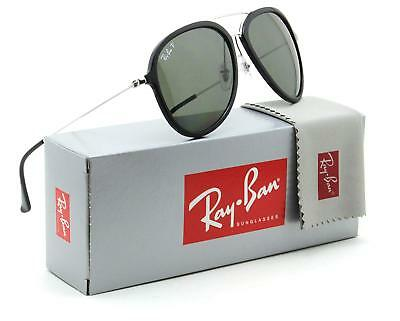 96c493ef9b6 Authentic RAY-BAN RB4298 601 9A Black Silver Green Classic Polarized Lens