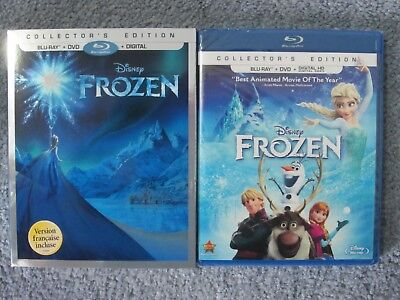 Frozen (Blu-ray/DVD, 2014, 2-Disc Set, Includes Digital Copy) W/SLIPCOVER *NEW*