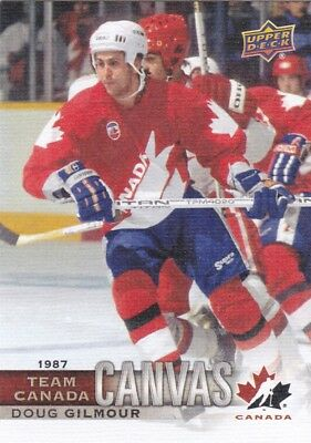 Doug Gilmour 17/18 UD Canadian Tire Team Canada Canvas 1987 SP TCC-50