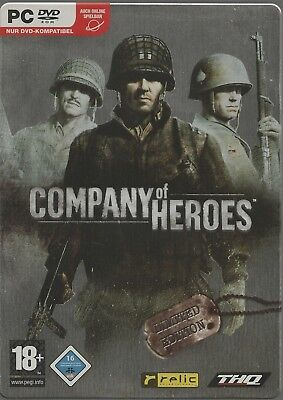 Company Of Heroes - Steel Book (PC, 2007, DVD-Box) sehr guter Zustand