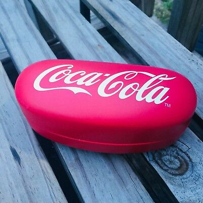 Coke Coca-Cola Sunglasses Eyeglass Hard Protective Eyewear Case Red and White