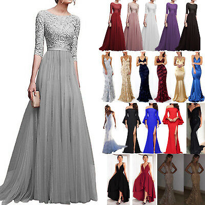 Women's Formal Prom Ball Gown Evening Party Cocktail Bridesmaid Long Maxi Dress