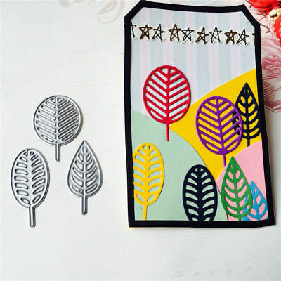Leaf Style Embossing Cutting Dies for Scrapbooking Decor Album Card Making  RDR