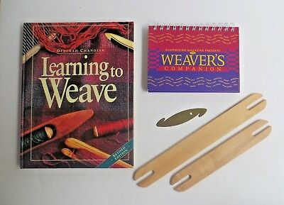 Schacht Spindles Shuttle Weaving Books Weaver's Companion Learning to Weave lot