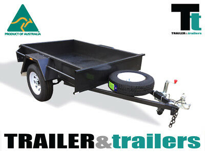 7x5 SINGLE AXLE DOMESTIC HEAVY DUTY BOX TRAILER | FIXED FRONT | JOCKEY WHEEL