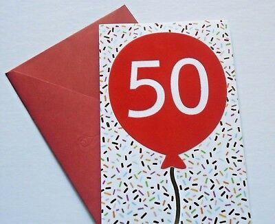 HAPPY BIRTHDAY Card 50 Years Old New From American Greetings
