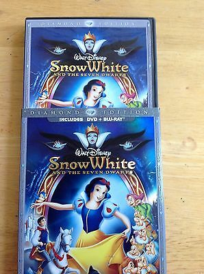 Snow White and the Seven Dwarfs (Blu Ray,DVD,2009,3Disc Set)Authentic Disney US