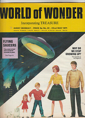 WORLD OF WONDER Magazine Issue 61 - Flying Saucers & Why Do We Grow Up? (1971)