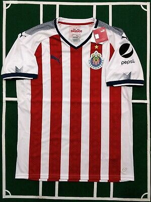 ff8de9bcc4975 PUMA CHIVAS DE Guadalajara Jersey Local/home 2017/2018 Short Sleeve S To Xl