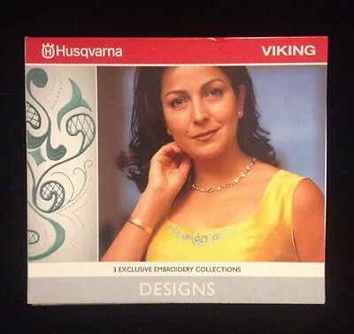 Husqvarna Viking 3 Exclusive Embroidery Collections CD Designs In VP3 Format
