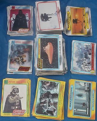 Lot of 306 Empire Strikes Back Cards Topps Picture Card Series 1980 ESB Vintage