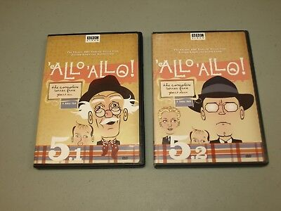Allo Allo The Complete Series Five 5 Part Un 1 and Deux 2 (4 DVD SET) BBC VIDEO