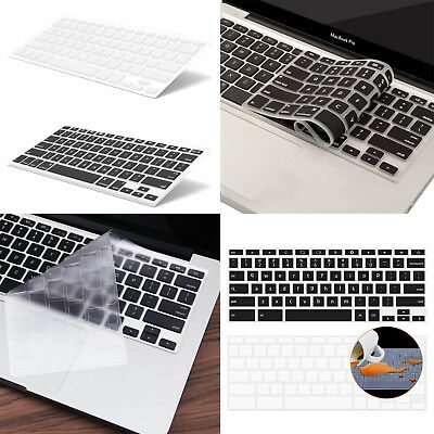 "Ultra Thin Transparent Keyboard Cover Soft TPU Skin for NEW MacBook Pro 13"" 15"""