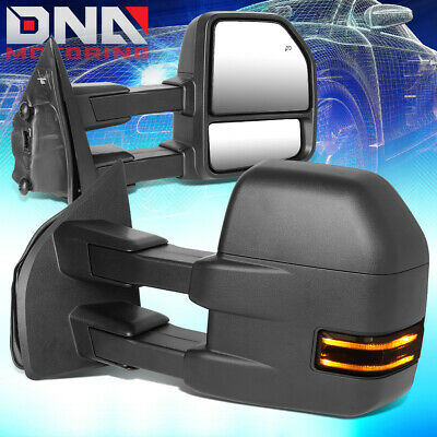 For 2015-2018 Ford F150 Powered+Heated Side View Towing Mirror W/led Turn Signal