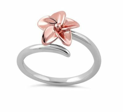 Flower Open Ring Women Retro Style Lady Adjustable Gift Jewely 925 Silver Gift