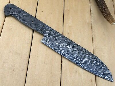 HUNTEX Custom Handmade Damascus Steel 10.4 Inch Long Hunting Blank Blade Knife