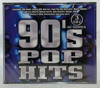 VARIOUS ARTISTS - 90's Pop Hits / Various (3 CD set, 40 songs !) Sealed !  NEW!