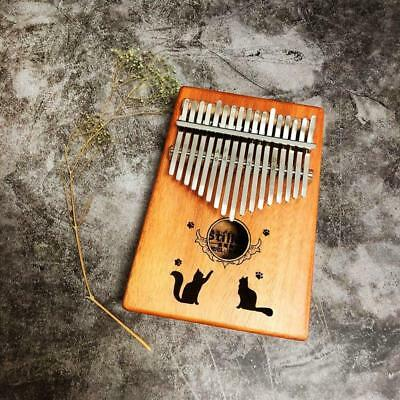 17 Key Portable Mahogany Kalimba Thumb Piano Music Finger Mbira Wood Keyboard f4