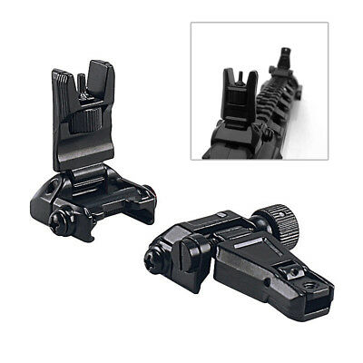 Flip-Up Sight Front and Rear Sight for 20mm RIS/RAS Rail Hunting Airsoft Scope G