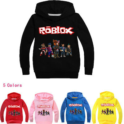 ROBLOX RED NOSE DAY Hooded Hoodies for Children Boys Pullover Sweatshirt Hoodies