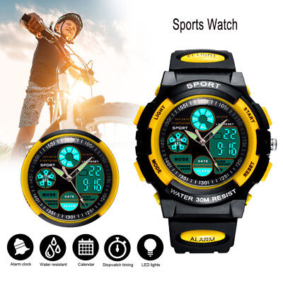 Kids Sport Watch Outdoor LED Digital for Girls Boys Teenagers Xmas Gift