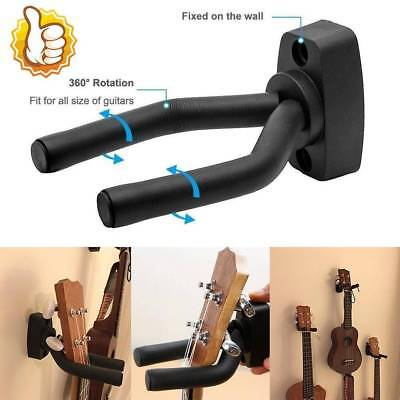Guitar Hanger Adjustable Wall Mount With Base Display Bracket Hook Holder