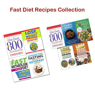 Fast Diet Recipes Books Collection Set  800 Michael Mosley Ketofast Solution NEW