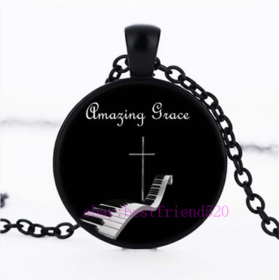 Amazing Grace Pendant Chain Necklace,Christian Cross Necklace,Christian Gift
