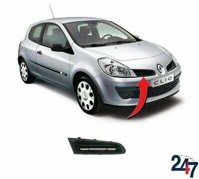 2005-2009 Renault Clio Not Campus Front Bumper Upper Grille Right Black Mat New