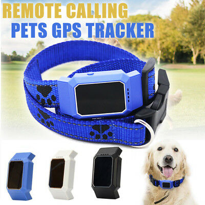 Waterproof GPS Pet Finder Tracker Anti-Lost Locator Collar Dog Cat GSM Tracking