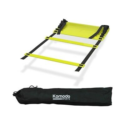 Komodo 6 Metre 12 Rung Speed Agility Fitness Training Ladder Football Exercise