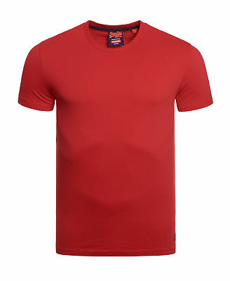 Neues Herren Superdry Vintage Embroidery T-Shirt Red