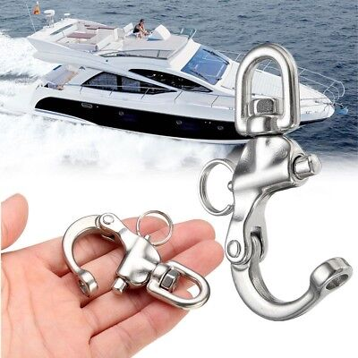 BIN Perry 316 Stainless Steel Quick Release Boat Anchor Chain Eye Swivel Snap