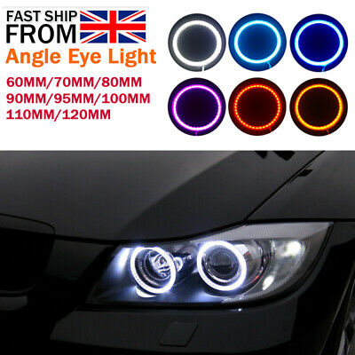 60/70/80/90/95/100/110mm COB LED Headlight Rings Halo Angel Eyes Fog Light Pair
