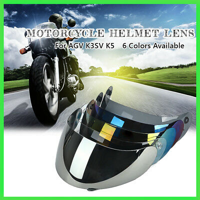 Motorbike Full Face Motorcycle Helmet Visor Lens Shield UV For AGV K3/K4 New
