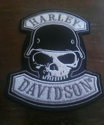 Toppe Patch Ricamata Termoadesiva  Harley Davidson Helmet