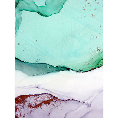 Abstract Paint With Green Copper Large Wall Art Print Canvas Premium Poster