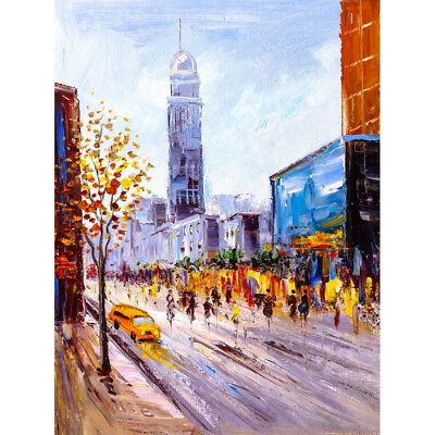 New York Cityscape Painting Unframed Wall Art Print Poster Home Decor