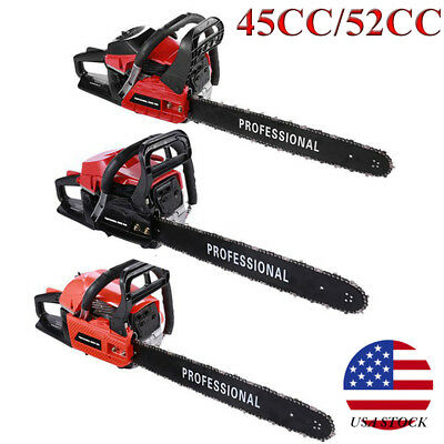 45cc 52cc Air Cooled 20 Inch Gasoline Cutter Chain Saw For Sawing Cutting AS