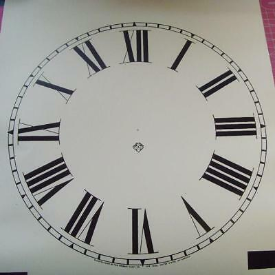 Ansonia card  12 inch clock dial for Regulator A Drop dial clock