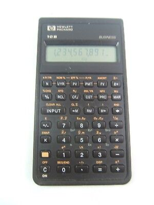 Vintage HP 10B Business Calculator 1987 Hewlett Packard Tested Works No Battery