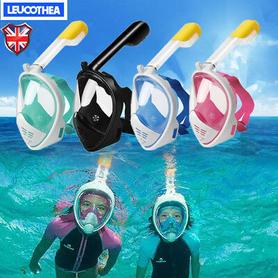 180°Kids Adult Full Face Snorkel Scuba Diving Mask Swimming Tool Scuba Pipe UK