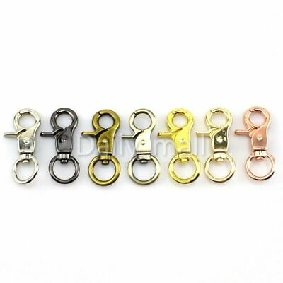 Metal Swivel Round Eye Bolt Snap Hook Colorful Pet leash Clips bag straps clasp