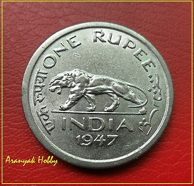 "BRITISH INDIA 1947 One rupee King George VI rare "" Lahore Mint""  coin"
