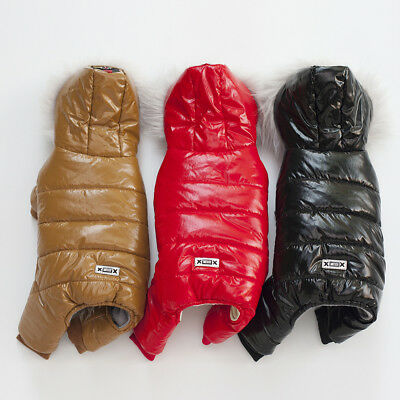 Waterproof Dog Jumpsuit Winter Thick Small Pet Pup Clothes Warm Jacket Raincoat