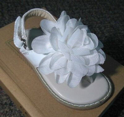 7111b6379af04 L AMOUR H708 FLOWER THONG WHITE LEATHER SANDAL 5-11 Toddler NEW IN BOX