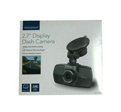 "Insignia NS-CT1DC8 Dash Cam 2.7"" Display 1080P Full HD 130 View Camera Mic Bare"